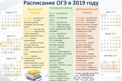 Расписание ОГЭ_2019
